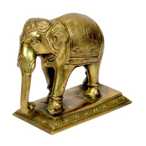 Bronze Elephant With Base