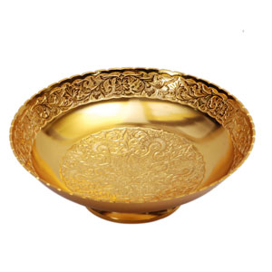 Brass Gold Plated Fruit Bowl