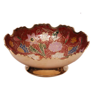 Brass Embossed Enamel Bowl