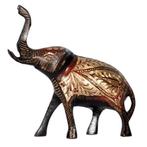 Brass Embossed T Up Elephant