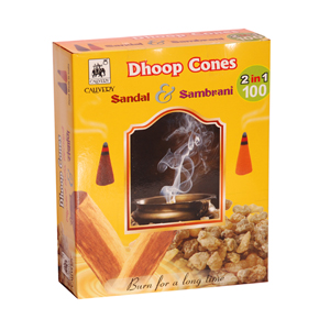 Cauvery Dhoop Cones Sandal Sambrani