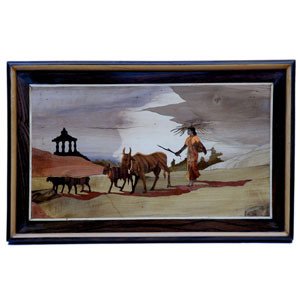 R W  Ls  Wall Panel Cattle With Lady