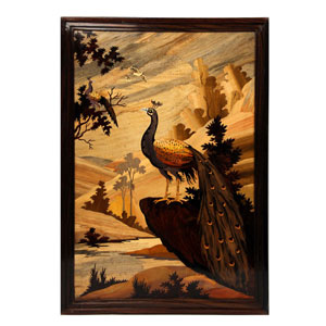 Rosewood Peacock Wall Panel R313169