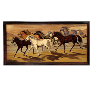 Rosewood Horse Wall Panel