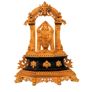 Sandal Wood Spl Crvd Balaji With Prabhavali
