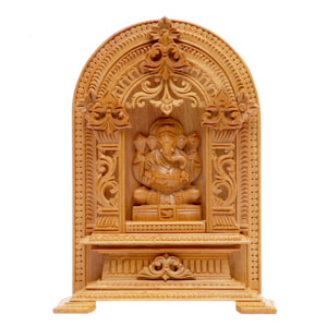Sandal Wood Carved Ganesha