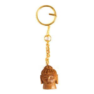 Sandal Wood Budha Key Chain