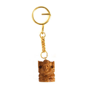 Sandal Wood Ganesha Key Chain