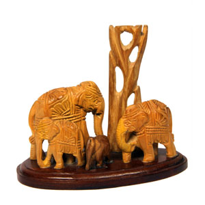 Sandal Wood Family Elephant