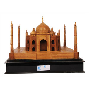 Sandalwood Taj Mahal  With Acrylic Case