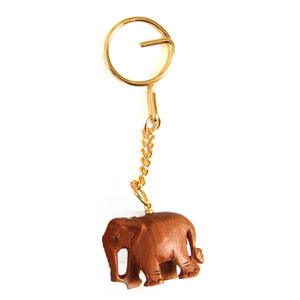 Sandal Wood Elephant  Key Chain