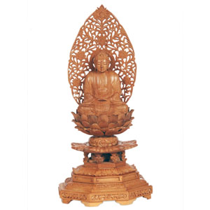 Sandalwood Sitting Buddha