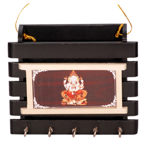 Wooden Key Stand  Ganesha Design
