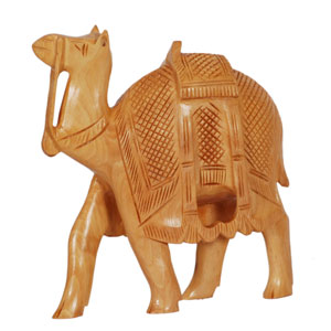 Wooden Carved Camel