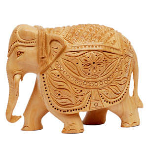 Wooden Carved T D Elephant