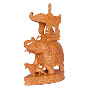 Wooden Carved Ambari Elephant
