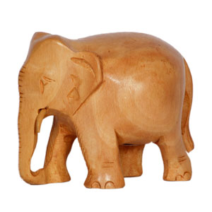 Wooden Carved Plane Elephant