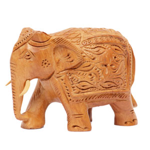 Wood Carved T D Elephant