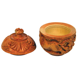 Wooden Carved Powder Box