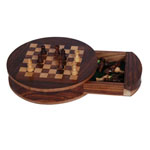 Otherwood Round Chess Board