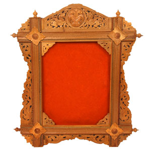 Sandalwood Carved Photo Frame S105139
