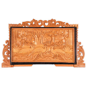 Sandalwood Carved Panel